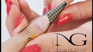 Постановка формы на проблемных ногтях (наращивание). Periscope / Forms for problem nails