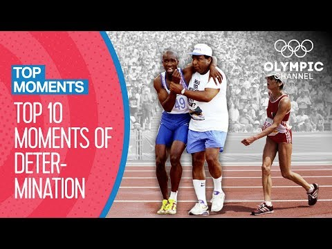 Top 10 moments of determination at The Olympics | Top Moments
