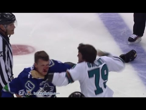 Alex Gallant vs Derek Dorsett Oct 2, 2016