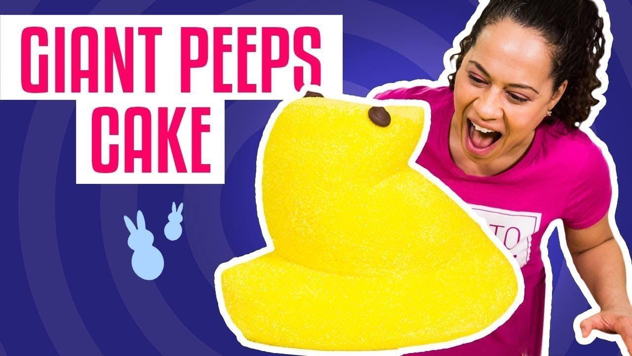How To Make a Easter GIANT PEEP CAKE   With Yellow Velvet Cake   Yolanda Gampp   How To Cake It