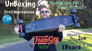 TeamGee H6 Retro EBoard - Unboxing and First Ride - Andrew Penman EBoard Reviews Vlog No 68