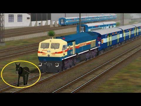 Crazy Donkey STOPS the Train and Escapes Indian Railways in Indian Train Simulator !!