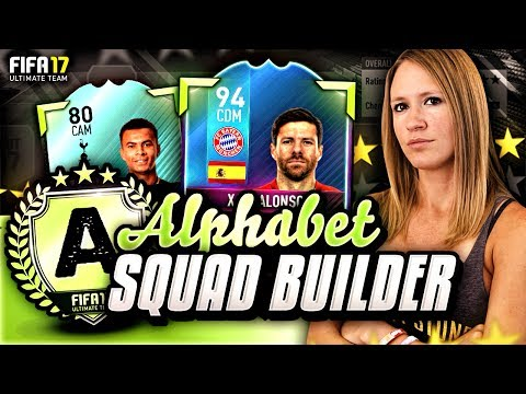 *NEW SERIES* FIFA 17 ALPHABET SQUAD BUILDER! THE 'A' SQUAD!