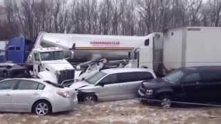 100 Car Pile Up Crash On A Cincinnati, Ohio (Interstate I-275 West)