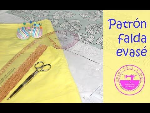 d08b854b4 Trazado de falda básica evasé (patrón fácil) - YouTube