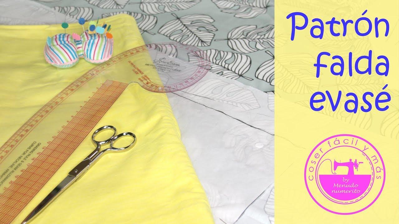 Trazado de falda básica evasé (patrón fácil)