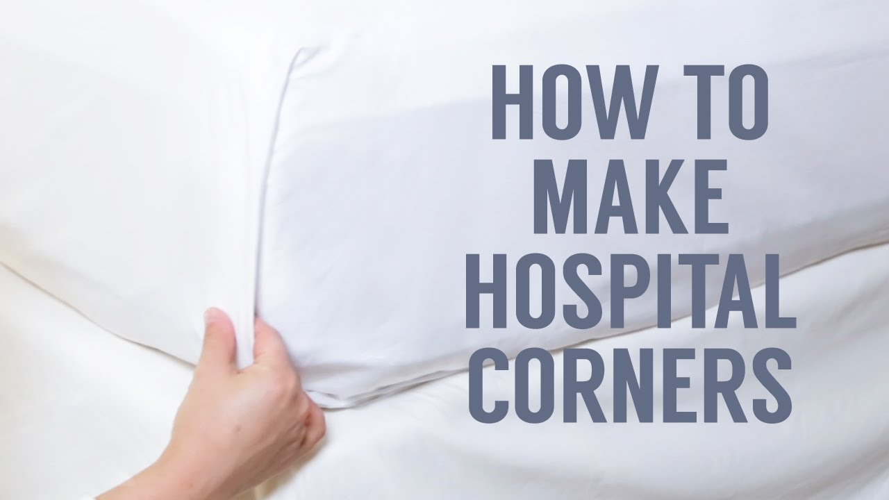 How To Make Hospital Corners In A Snap Youtube Fold Fitted Sheets Diagram