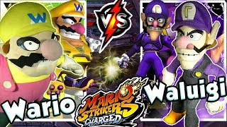 ABM: Wario vs Waluigi !! Mario Strikers Charged !! Gameplay Match !! HD