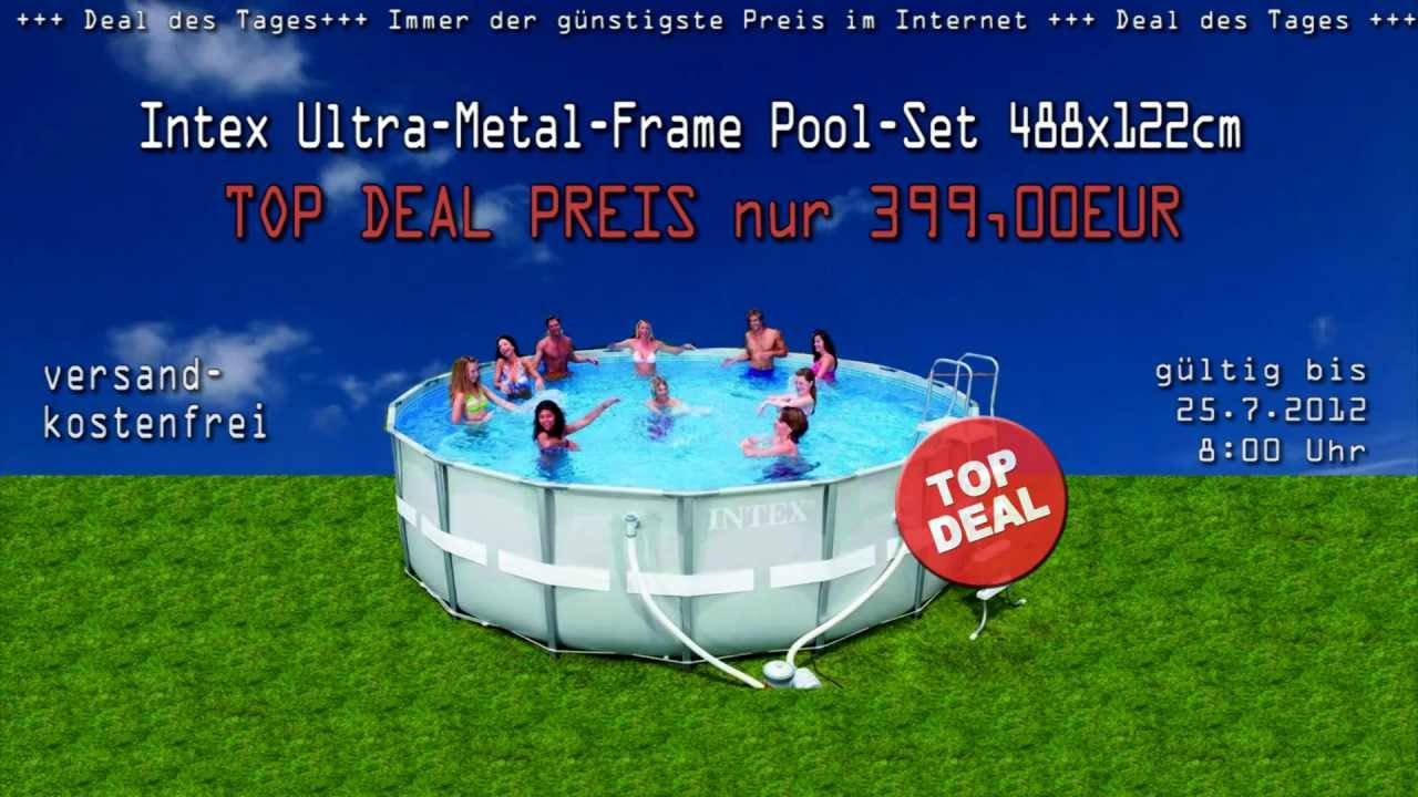 Pool Bodensauger Set Intex Ultra Metal Frame Pool Set 488x122cm Gongoll Deal
