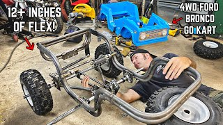 4WD Power Wheels Go Kart Build Pt. 3 | Trailing Arm Rear Suspension