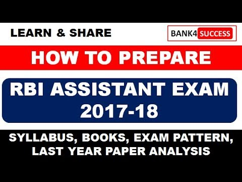 RBI Assistant Exam 2017 - Syllabus, Pattern and Important Books