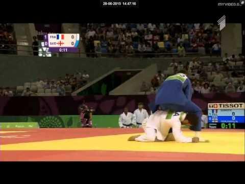 France vs Georgia European judo teams championships - Baku 2015