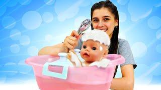 Купаем Беби Бон. Видео для девочек Как мама - Играем в куклы. Ох, уж эти куклы!