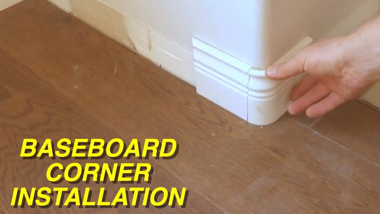 How to Install Rounded Corner for Baseboards MrYoucandoityourself