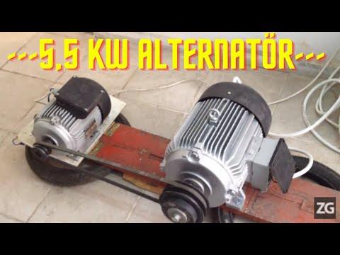 5.5 KW POWER 220 VOLT AC ALTERNATOR WATER TURBINE