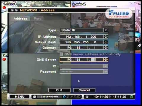 ตั้งค่าไอพีแอดเดรส (DVR+PC)