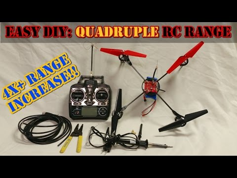DIY: Quadruple Flying Distance - WLtoys, DJI, Hubsan, Syma Transmitter Mod
