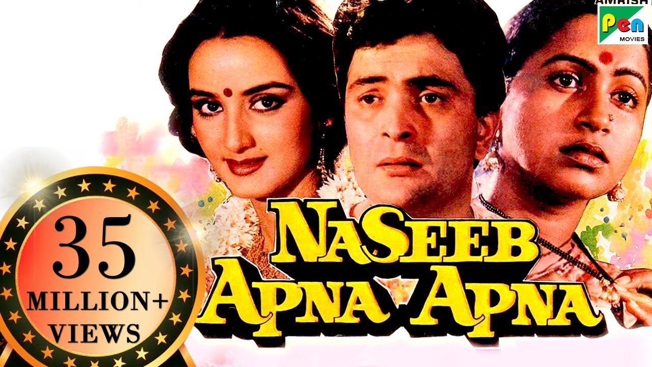 Download Naseeb Apna Apna   Full Hindi Movie   Rishi Kapoor, Farah Naaz, Amrish Puri, Raadhika
