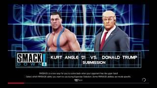 WWE 2K19 Kurt Angle '01 VS Donald Trump 1 VS 1 Submission Match