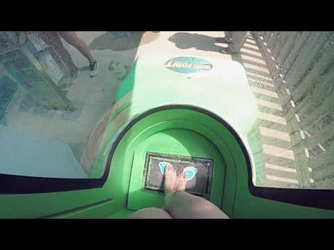 NEW FOR 2018 Adventure Island Tampa Bay Water Slide VANISH POINT PREVIEW POV!!!
