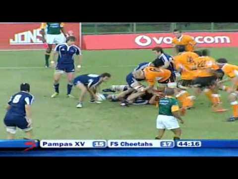 Pampas XV vs Free State Cheetahs 41-34 - Vodacom Cup 2011
