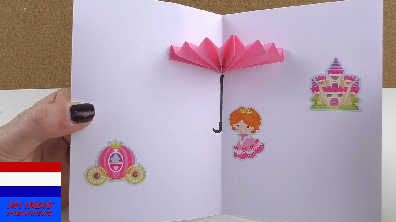 Uitzonderlijk 3D-kaart met paraplu zelf maken | origami | Nederlands | knutselen @BI95