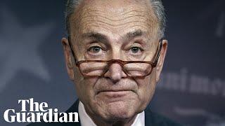 Senator Chuck Schumer holds news conference before congress recess – watch live