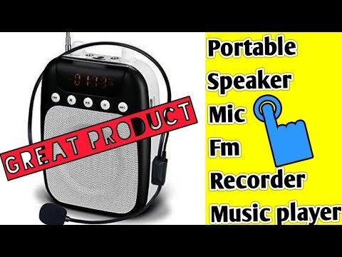 Portable Mic & speaker, review..Good to Buy....😀👌