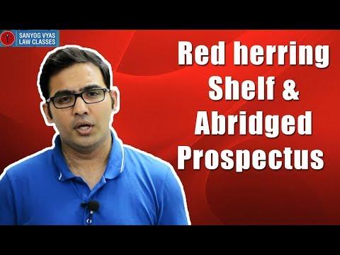 Red herring Shelf & abridged prospectus explained by Advocate Sanyog Vyas