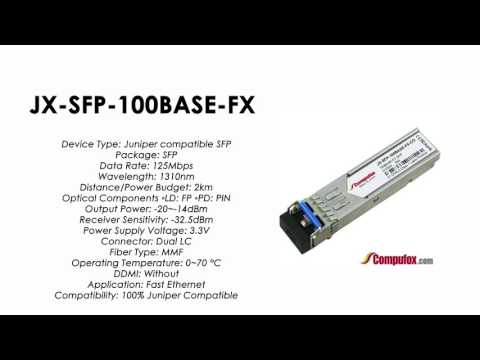 SRX-SFP-FE-FX Juniper Compatible 100BASE-FX SFP 1310nm 2km MMF transceiver
