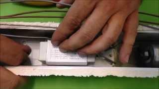 Reparación lámpara fluorescente, cambio de reactancia