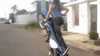 Pakistani Aline girl Bike Wheeling 2009