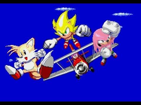 Sonic Classic Heroes - [Speedrun] Team Super Sonic (Seizure Warning)