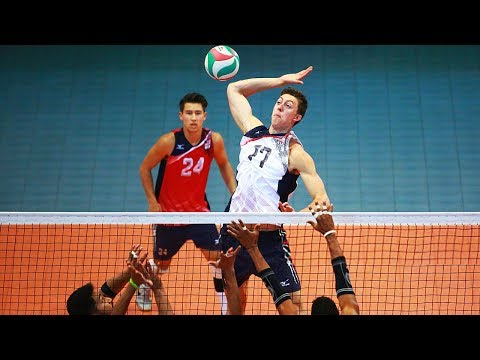 TOP 20 Best Volleyball Spikes by Jeffrey Jendryk | Volleyball USA | World League 2017