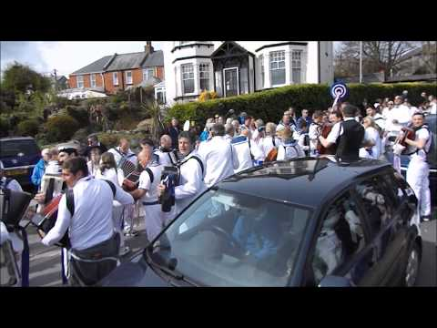 Padstow May Day - The Obby Oss Festival Metropole Hotel Blue Oss Padstow 2018
