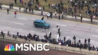 Jeep Drives Through Crowd of Black Lives Matter Protesters in Colorado | MSNBC