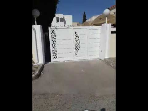 Porte coulissante automatique en tunisie youtube - Porte coulissante en fer ...