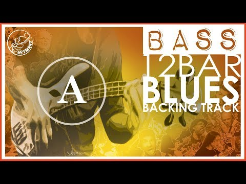 12 Bar Blues Bass Backing Track in A
