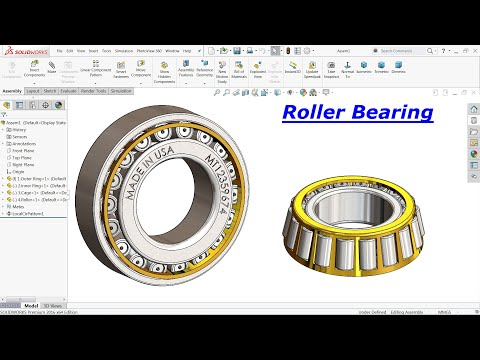 Solidworks Tutorial Roller Bearing