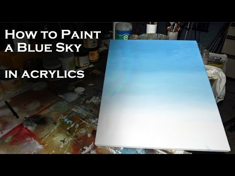 Acrylic Painting Tutorial | How to Paint a Blue Sky