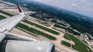 Qatar Airways / Air Italy Airbus A320 POWERFUL TAKEOFF from Milan Malpensa Airport (MXP)