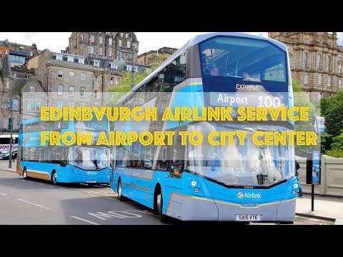 Edinburgh Airlink 100 Service From The Airport To The City Center