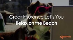 Dog and Woman find Great Insurance in Florida.