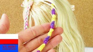 Prosta fryzura dla dzieci | warkocze z wplecioną włóczką