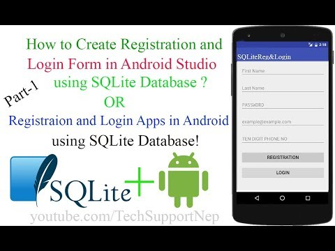 Create Registraion And Login Form In Android Studio Using SQLite Database [With Source Code][Part-1]
