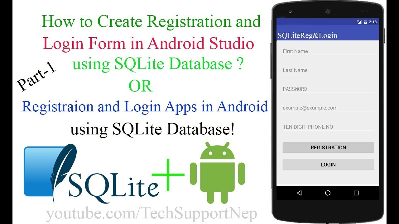 Create Registraion and Login Form in Android Studio using SQLite ...