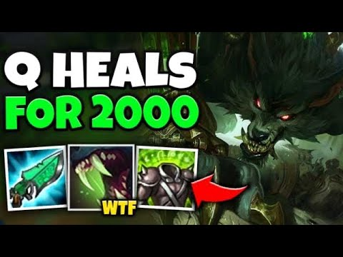 MAX HEAL WARWICK HEALS 2000 HP IN ONE Q?! THIS IS 100% OP - League Of Legends