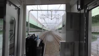 南海泉佐野から関西空港までの前面展望(20170206)