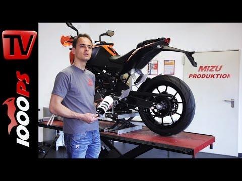 Montagevideo | Mizu Hecktieferlegung an KTM 200 Duke