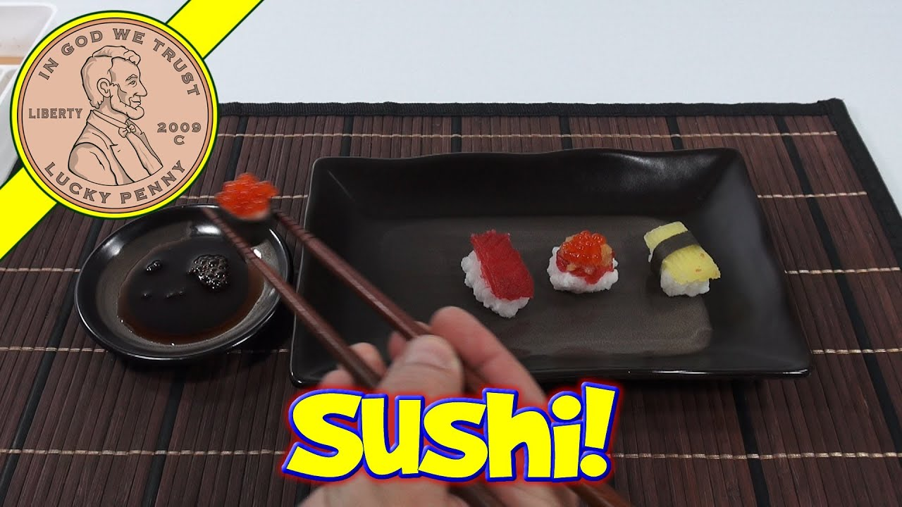 sushi candy diy japanese kit kracie happy kitchen popin 39 cookin 39 youtube. Black Bedroom Furniture Sets. Home Design Ideas